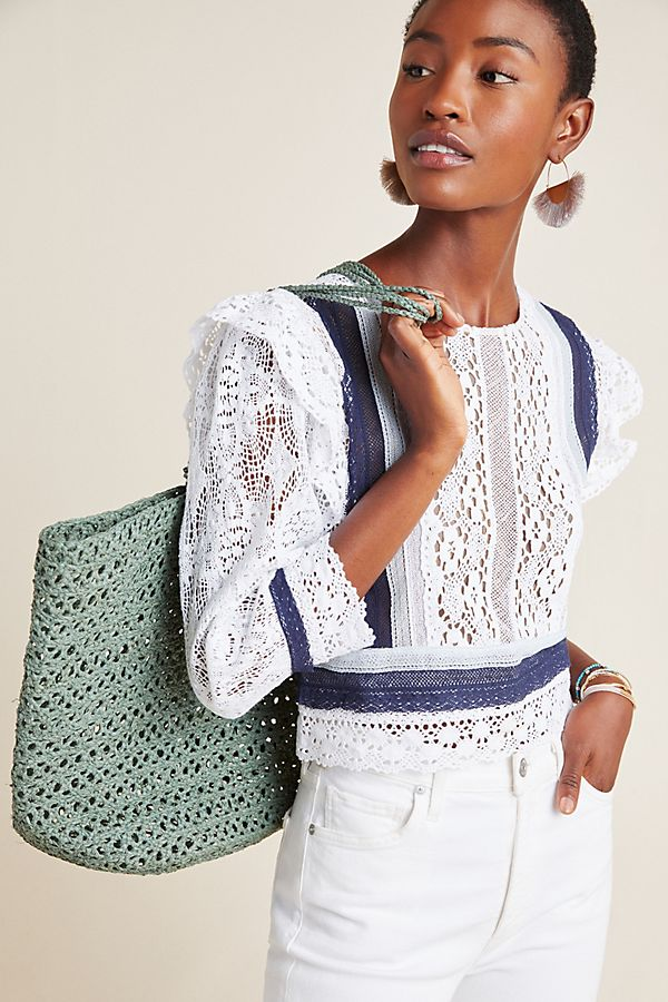 Slide View: 1: Sylvie Lace Blouse