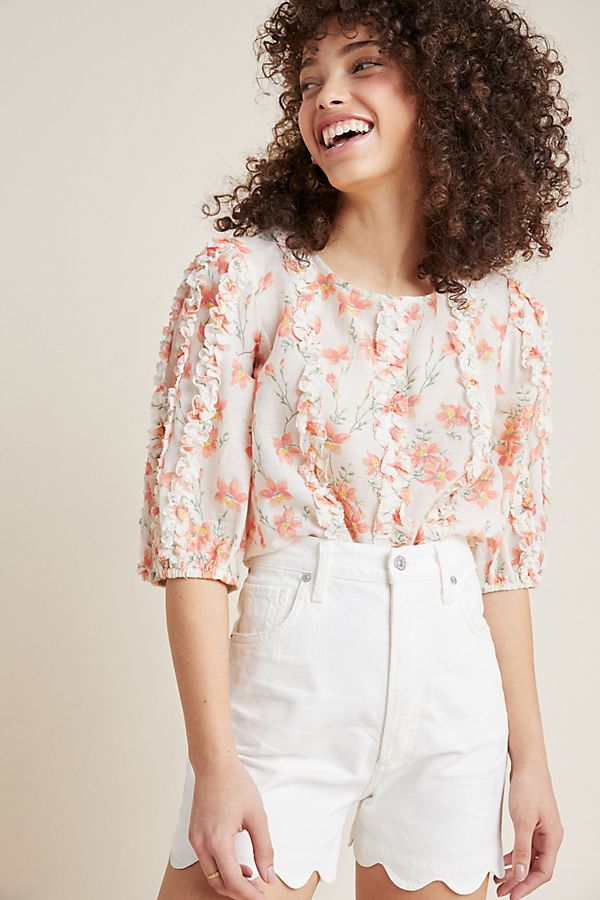 Slide View: 1: Peachy Keen Blouse