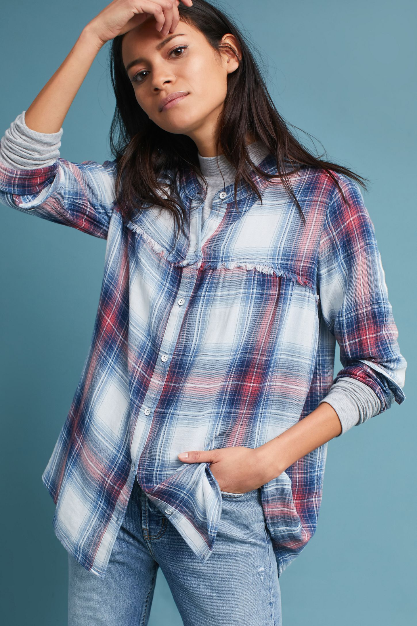 94ddfbd0eec Cloth   Stone Plaid Swing Tunic