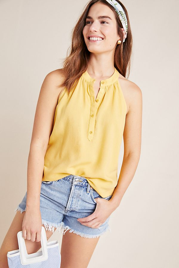 Slide View: 1: Cloth & Stone Henley Halter Top