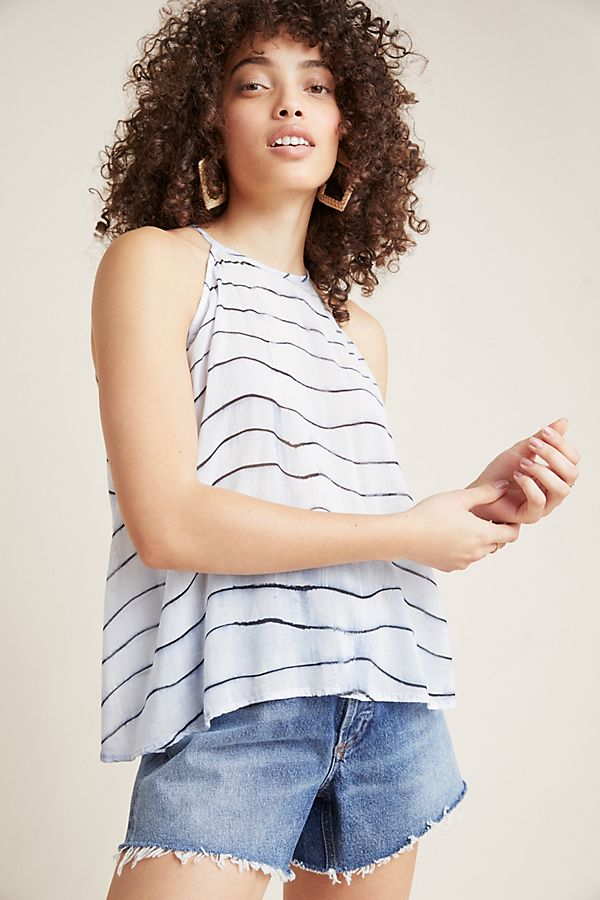 Slide View: 1: Cloth & Stone Striped Halter Tank