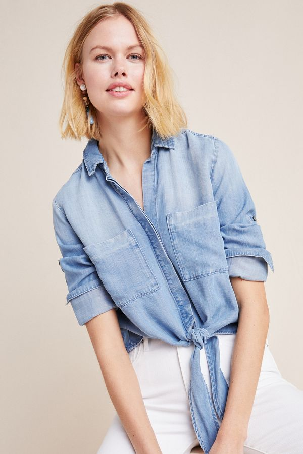 Slide View: 1: Cloth & Stone Newtown Chambray Buttondown