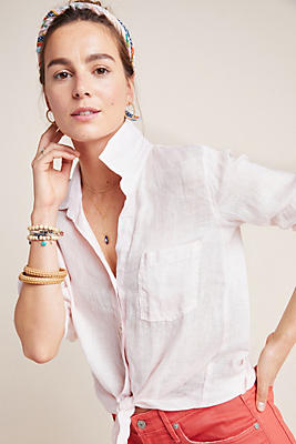 Slide View: 1: Cloth & Stone Dora Linen Buttondown