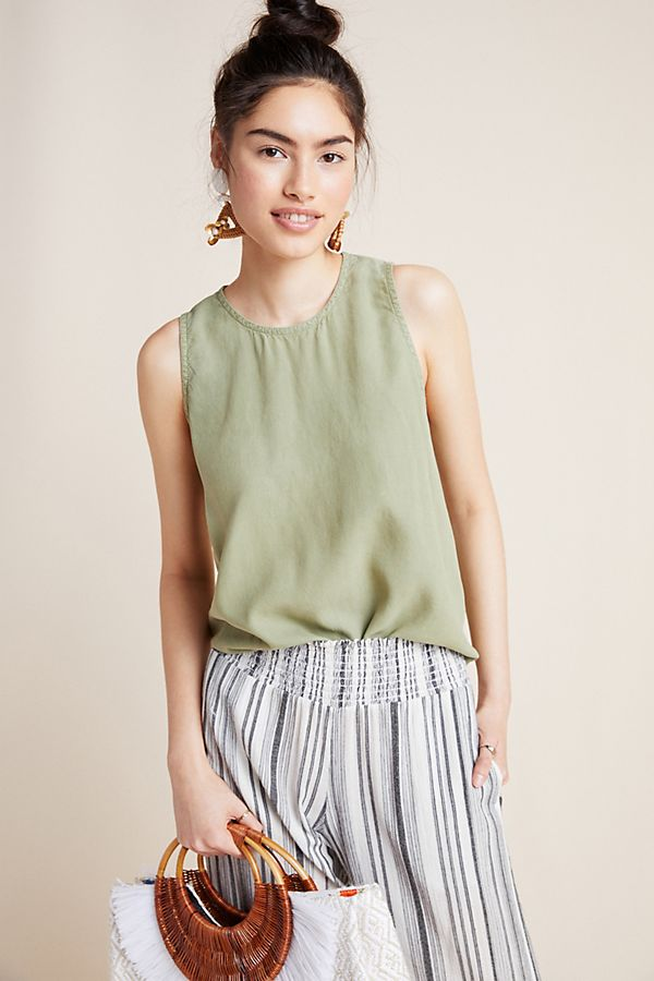 Slide View: 1: Cloth & Stone Lea Sleeveless Blouse