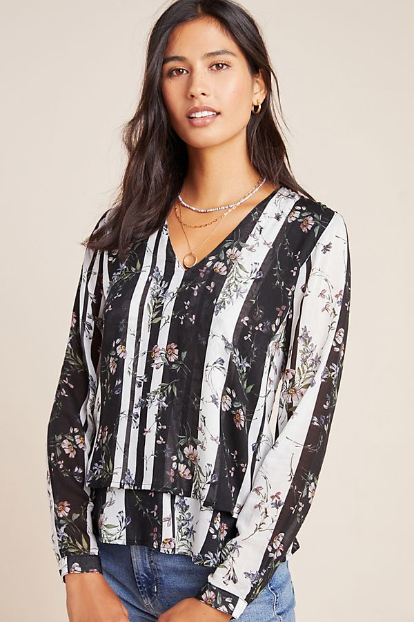 Slide View: 1: Cloth & Stone Victoria Layered Blouse