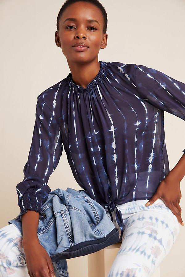 Slide View: 1: Cloth & Stone Tie-Front Buttondown