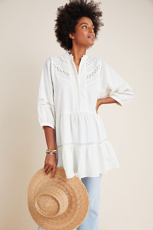 Slide View: 1: Vicenza Lace Babydoll Tunic
