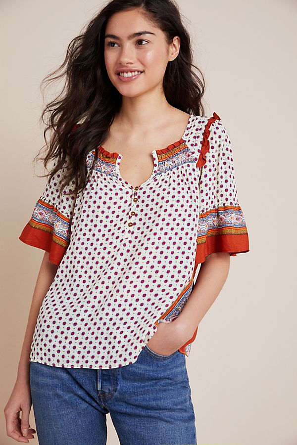 Slide View: 4: Letitia Smocked Blouse