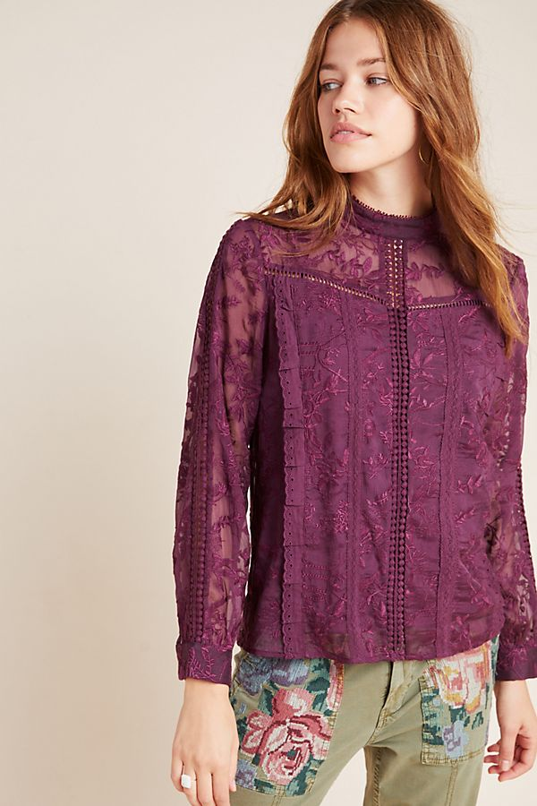 Slide View: 3: Isabinda Lace Blouse