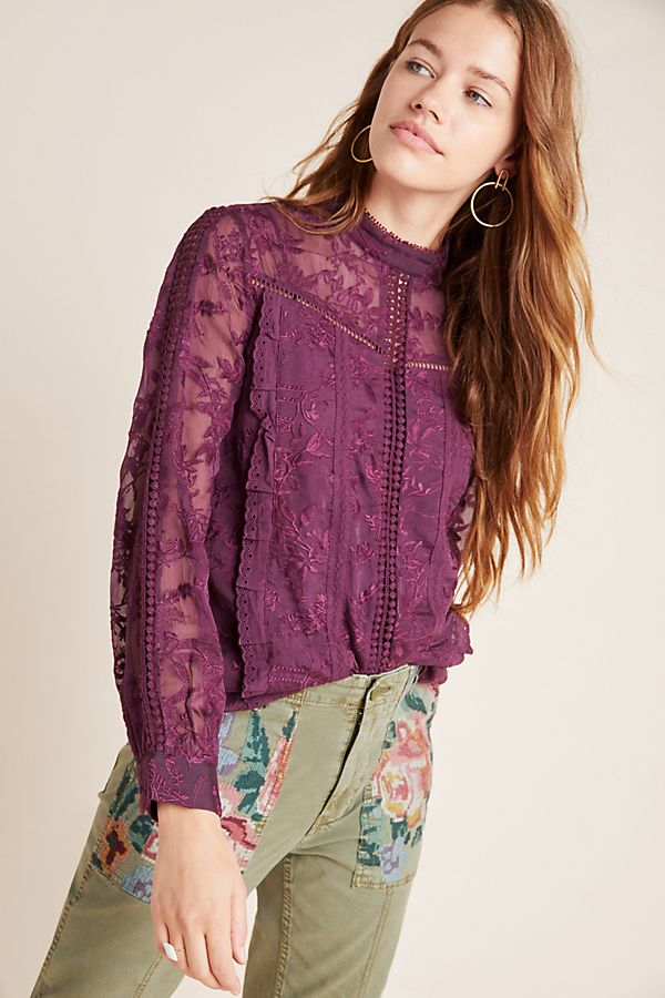 Slide View: 1: Isabinda Lace Blouse