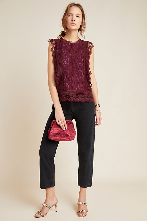 Slide View: 4: Sydney Lace Blouse