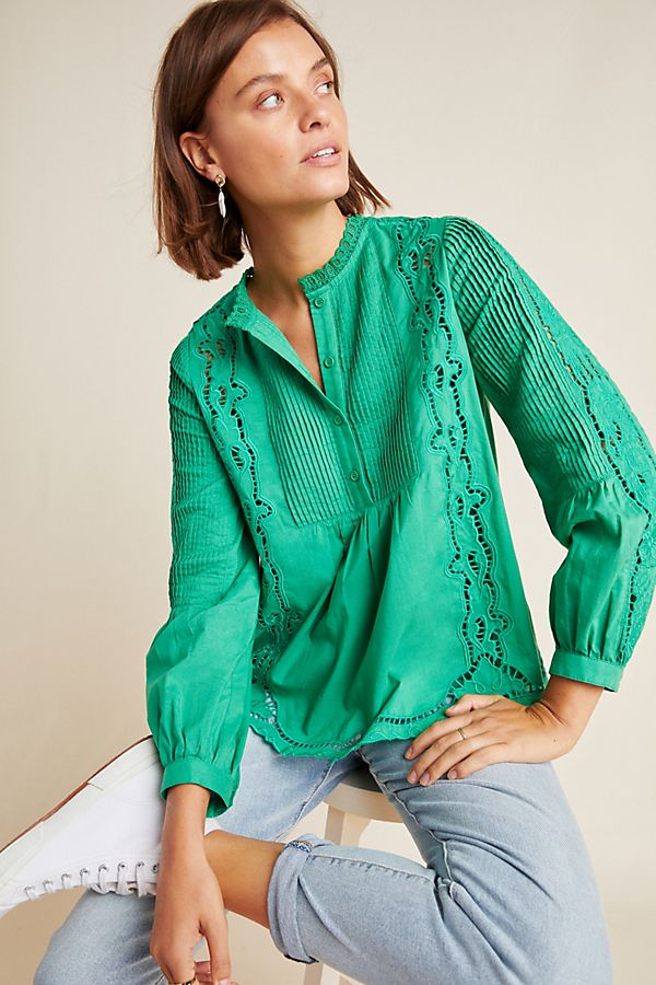 Slide View: 1: Annemarie Peasant Blouse