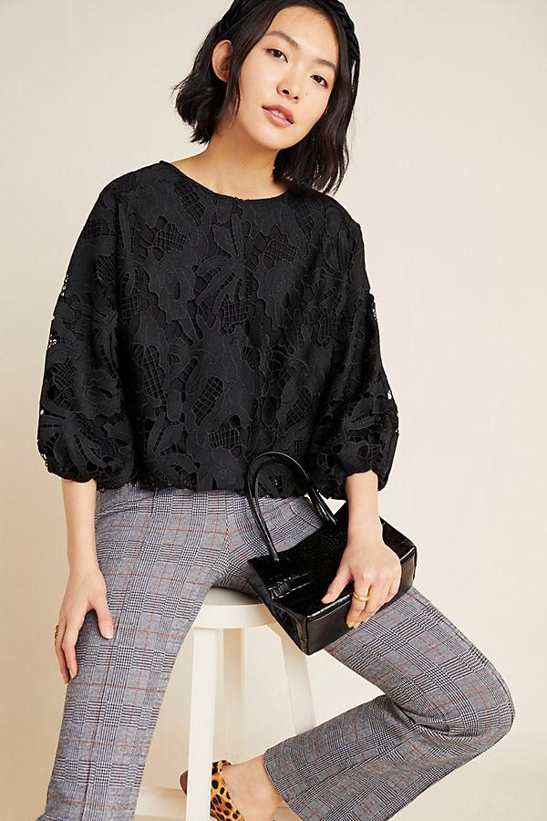 Slide View: 1: Annmarie Lace Blouse