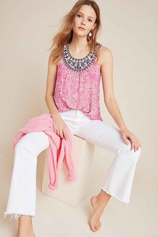 Slide View: 1: Halle Embroidered Blouse