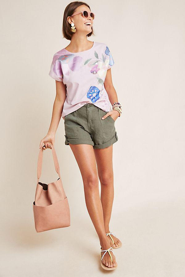 Slide View: 1: Amie Puff-Sleeved Blouse