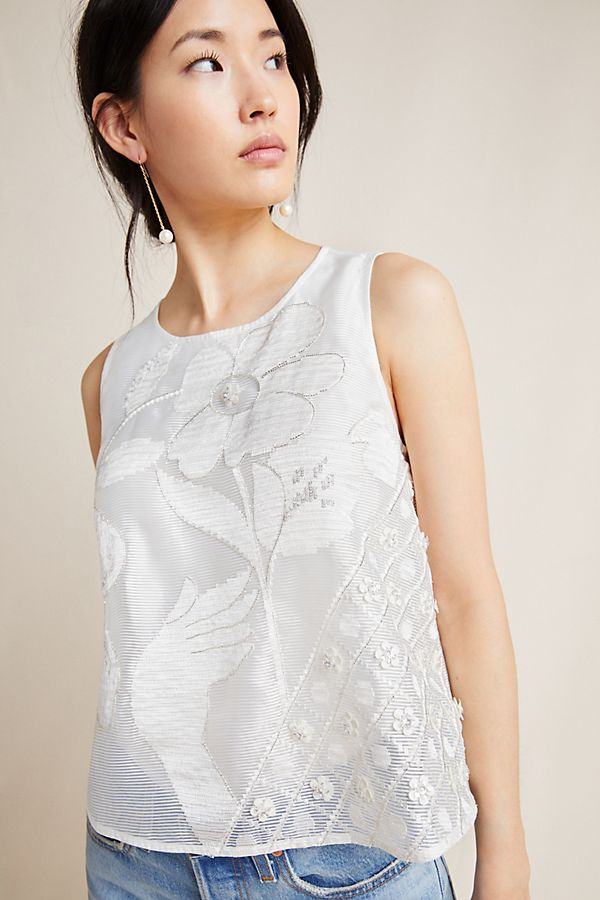 Slide View: 1: Arial Embroidered Blouse