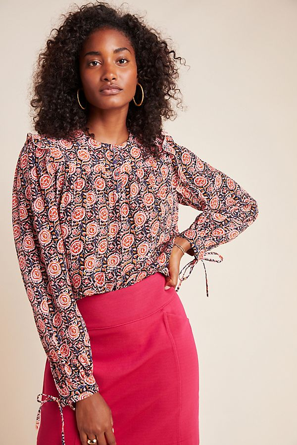 Slide View: 1: Antik Batik Nikki Floral Blouse
