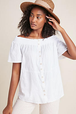 Slide View: 1: Lucille Off-The-Shoulder Blouse