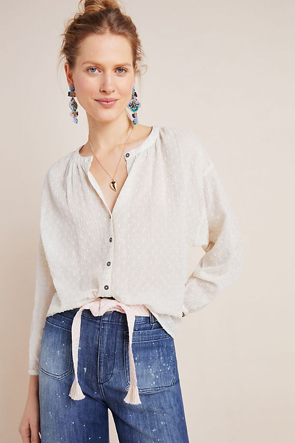 Martina Textured Blouse by Anthropologie