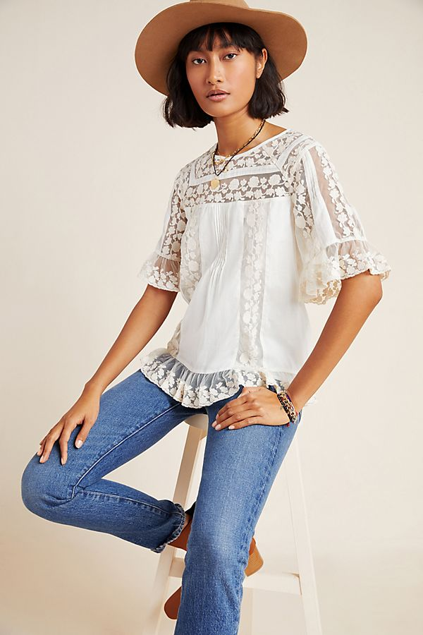 Slide View: 1: Lisabetta Lace Blouse