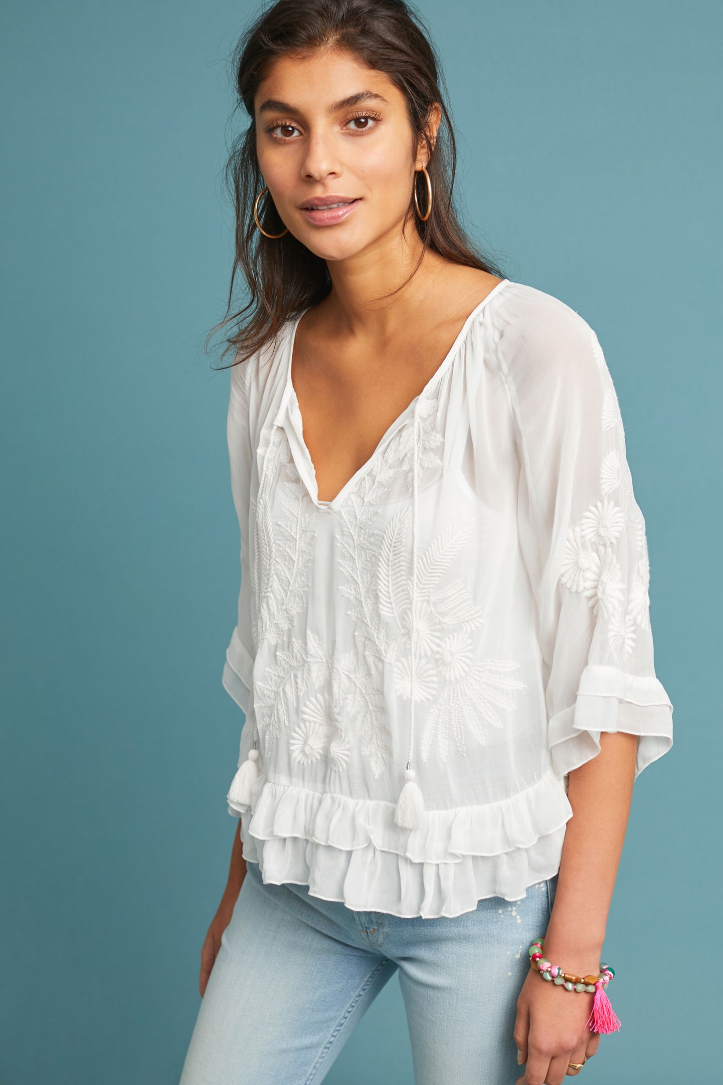 d79804d1cd2ca Ephesus Embroidered Blouse | Anthropologie