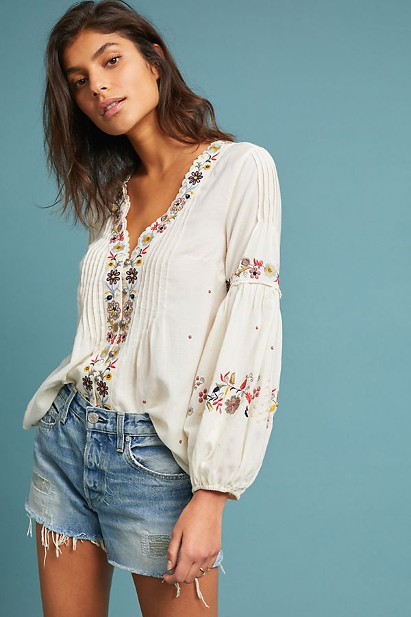 innovative design great deals cost charm Carthage Embroidered Peasant Top