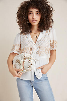 Slide View: 1: Kathryn Embroidered Blouse