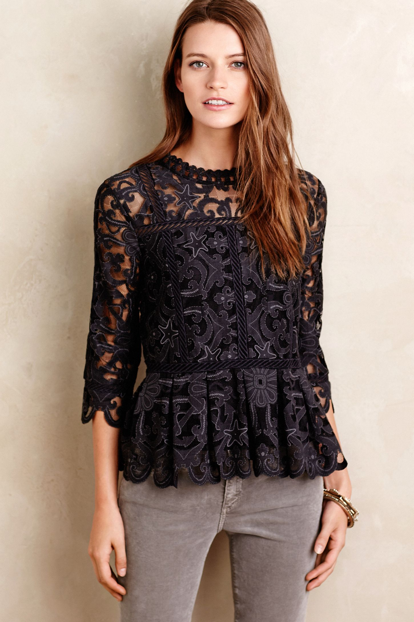 96068d6ed847c Nautical Lace Top | Anthropologie