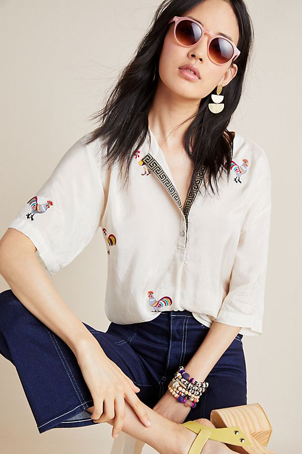 Slide View: 1: Eloise Embroidered Tunic
