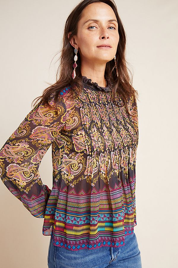 Slide View: 1: Kyrie Pleated Blouse