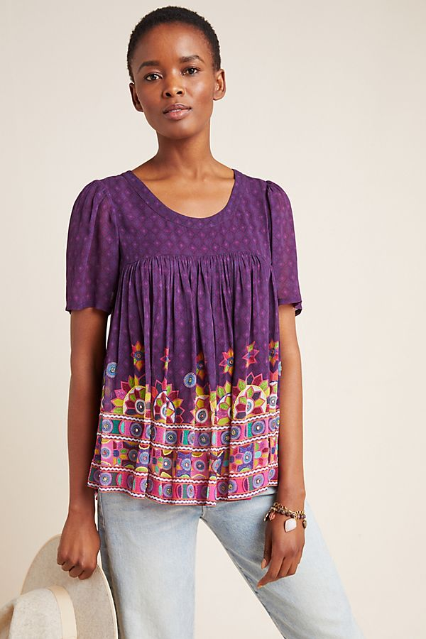 Slide View: 1: Linnea Beaded Blouse