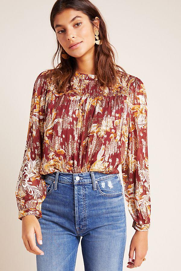 Slide View: 1: Angeline Embroidered Blouse