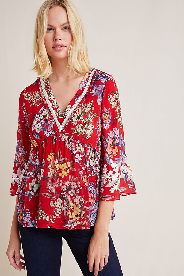 Slide View: 1: Jessamine Floral Blouse