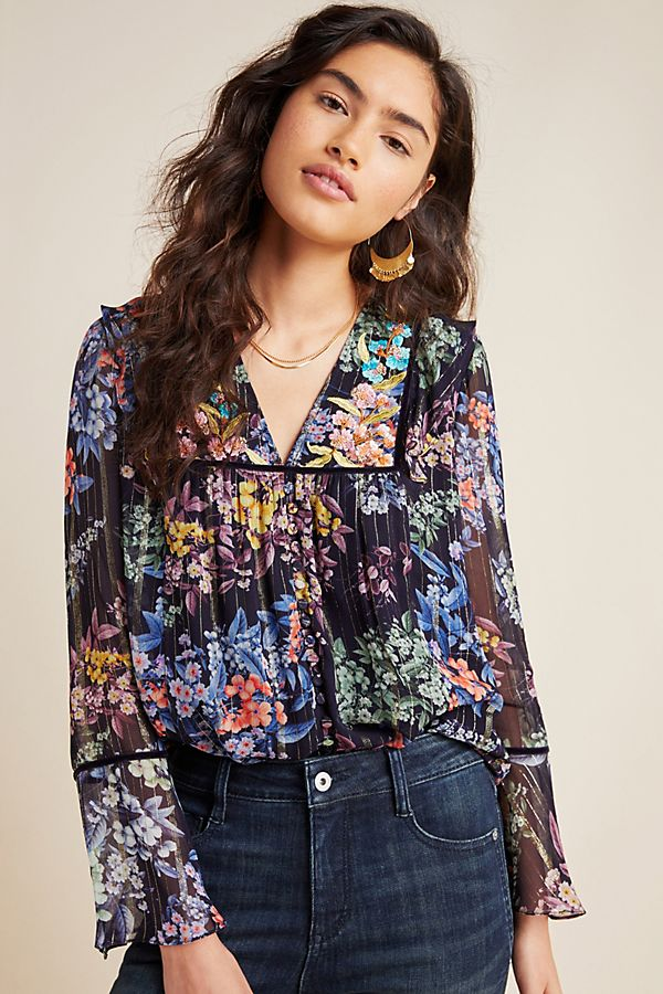 Slide View: 1: Vivienne Embroidered Blouse