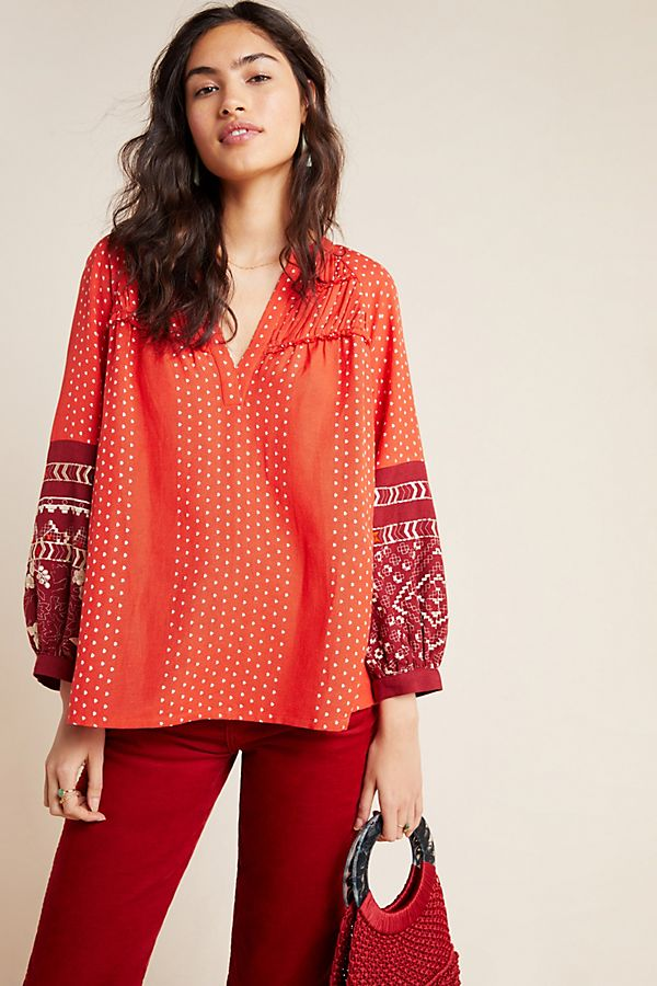 Slide View: 1: Nora Peasant Blouse
