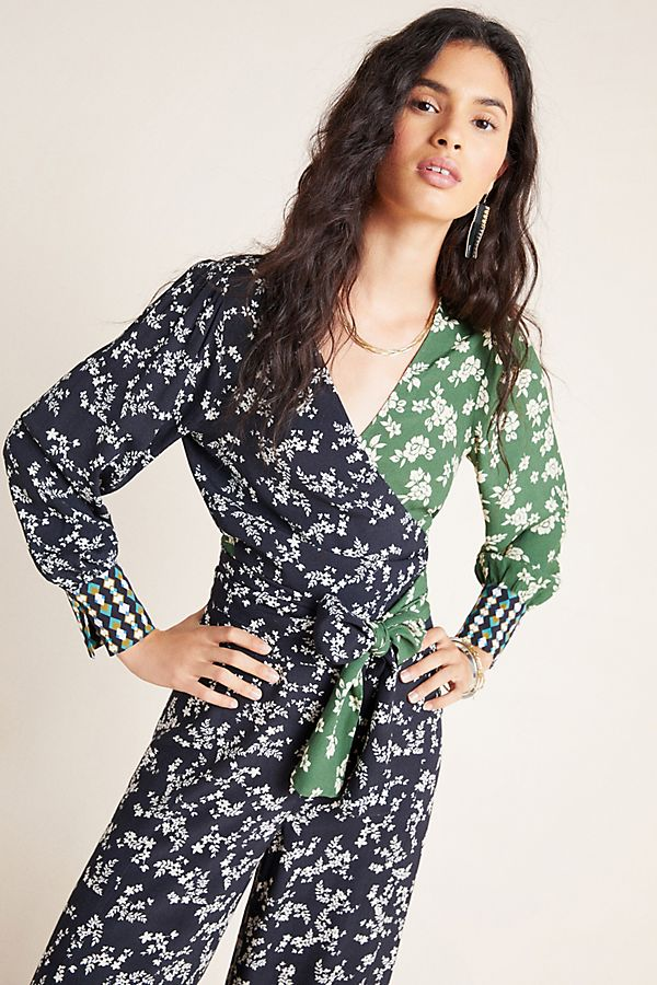Slide View: 1: Vandie Floral Wrap Blouse