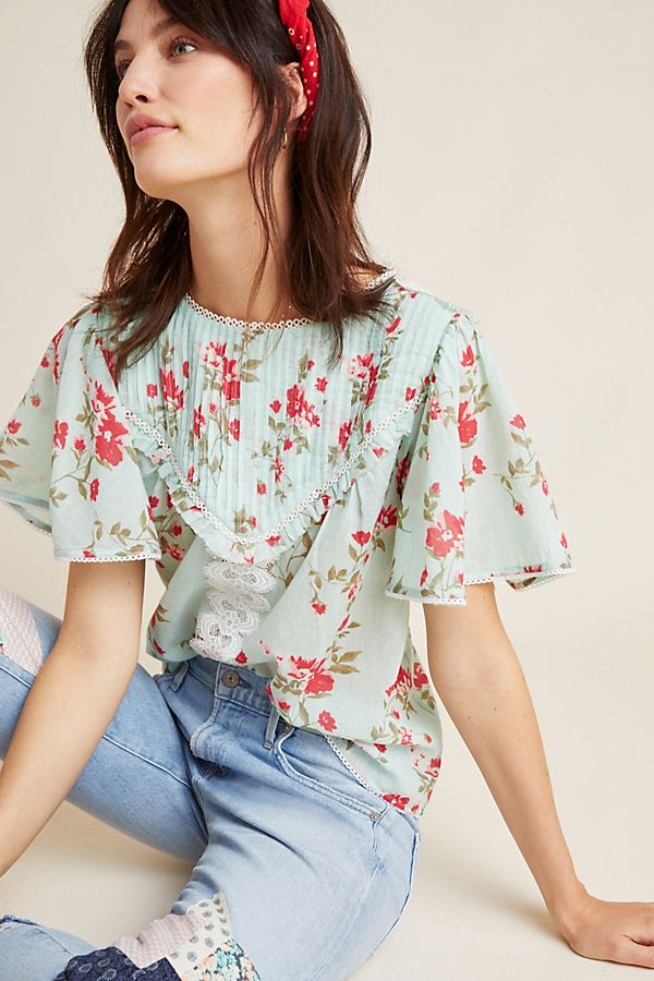 Slide View: 1: Blissful Floral Blouse
