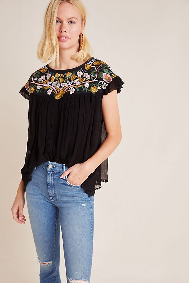 Slide View: 1: Bethany Embroidered Blouse