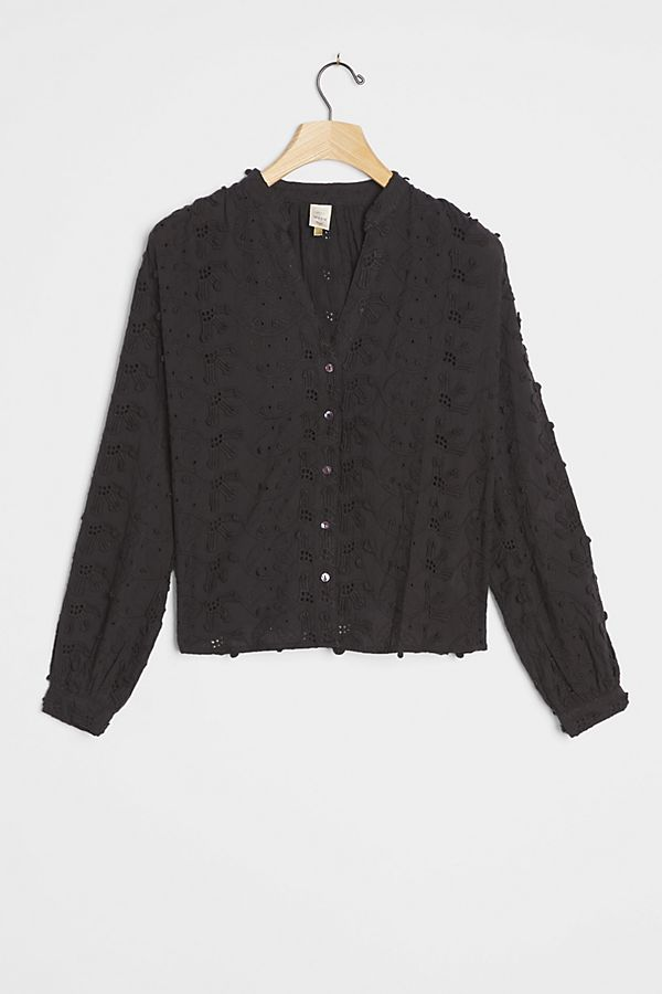 Slide View: 1: Kathryn Textured Blouse