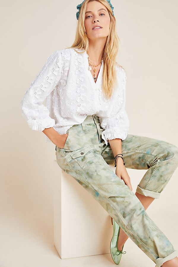 Slide View: 1: Kathryn Textured Floral Blouse