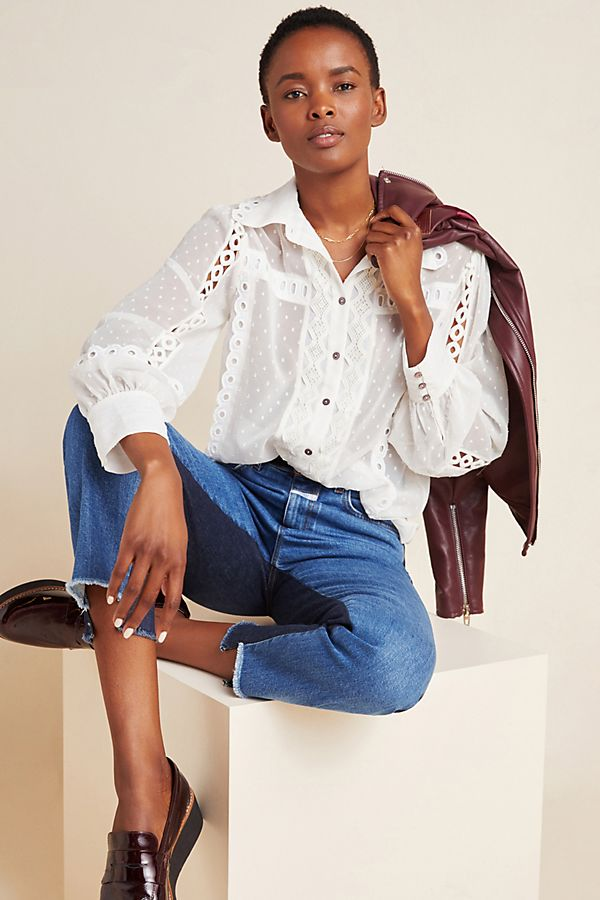 Slide View: 1: Cleo Lace Blouse