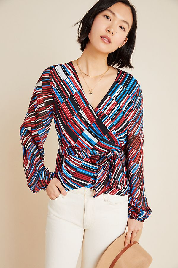 Slide View: 1: Laurie Deco Wrap Blouse