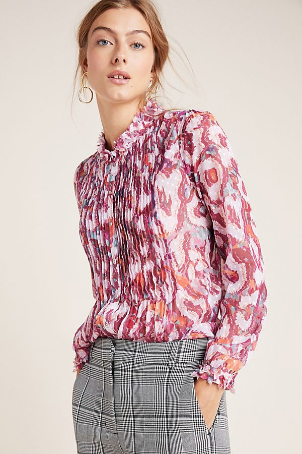 Slide View: 1: Penelope Pleated Blouse