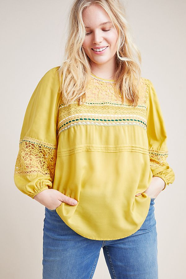 Slide View: 7: Sunshine Peasant Top