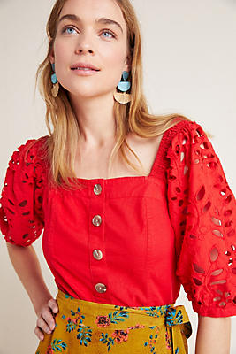 Slide View: 1: Christiana Eyelet Blouse