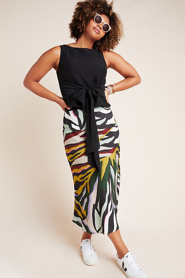 Slide View: 1: Andie Tie-Front Sleeveless Blouse