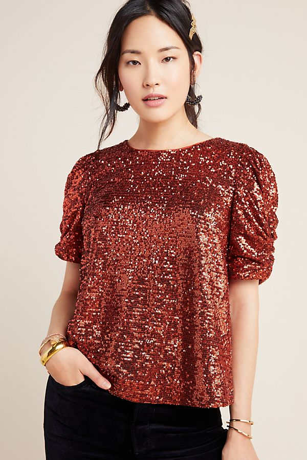 Slide View: 4: Marie Sequined Blouse
