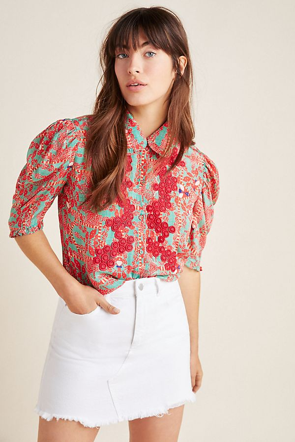 Slide View: 1: Ambrose Embroidered Buttondown