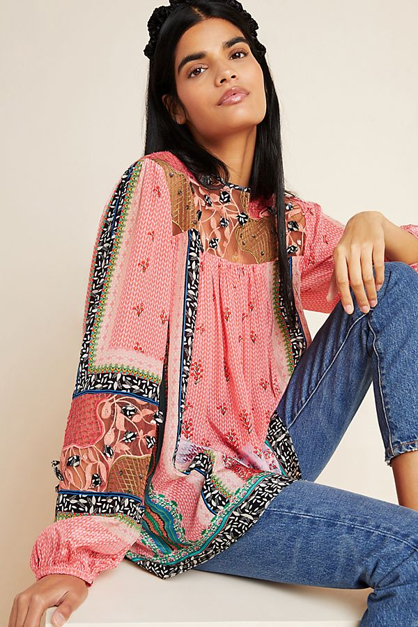 Slide View: 1: Rosario Embroidered Blouse