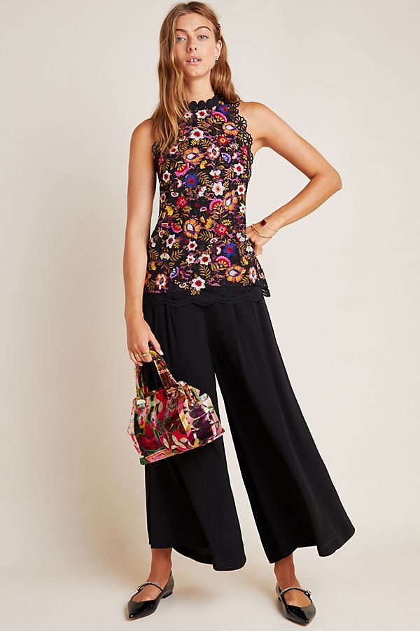 Kirstie Embroidered Peplum Blouse by Maeve